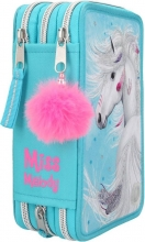 ,Miss melody 3-vaks etui led turkoois
