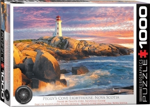 Eur-6000-5437,Puzzel  peggy`s cove lighthouse - nova scotia- 1000 stuks